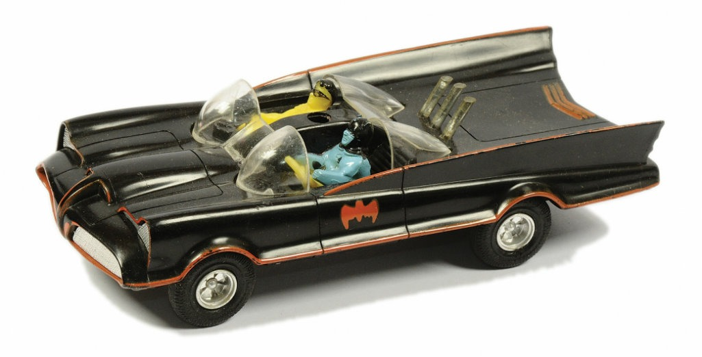 Check this rare 1960's toy Batmobile we found!