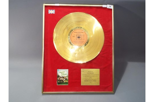 The original Gold Disc for 'Remember You're a Womble'